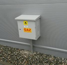 oznakowanie lokalizacji zaworów gazu