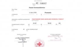 certyfikat PCK